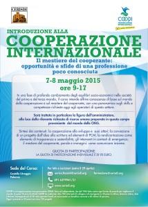 CERISDI- COOPI - Corso cooperazione internazionale -7 e 8 maggio 2015- locandina