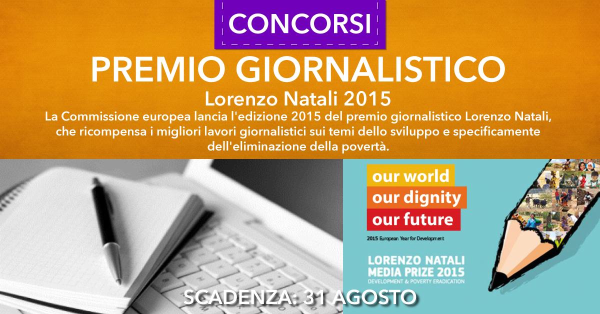 premio giornalistico Lorenzo Natali